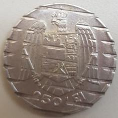 250 LEI 1935, ARGINT, DEMONETIZATA, FOARTE RRARA !! 13,5 GRAME.