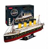 Puzzle 3D Led - Titanic, 266 piese, CubicFun