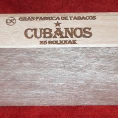 Cubanos, cutie trabucuri cubaneze, pt. colecţionari