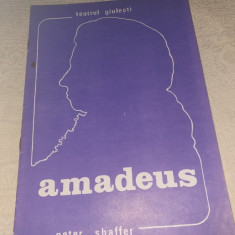 "PROGRAM TEATRUL GIULESTI 1987 SPECTACOL ""AMADEUS"""