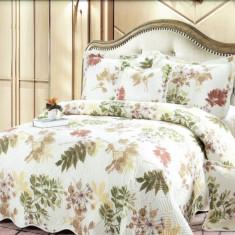 Cuvertura de pat + 4 Fete de Perna - Pat 2 Persoane - 100% Bumbac - E-S39