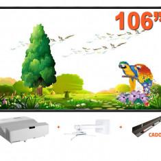 Pachet Videoproiector EH330UST + Suport MB9833 + Tabla IB106RS + Tavita cadou Optoma White