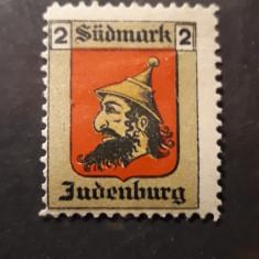 TIMBRU IUDAICA - ANTISEMIT - JUDENBURG - SUDMARK ( AUSTRIA PRE 1918 ) - RARITATE