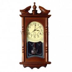 Ceas perete cu pendula din lemn Circle Moon TX-1310