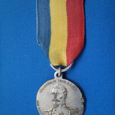 MEDALIE  A INAGURARII STATUII LUI AL.I. CUZA IASI 1912/ARGINTATA