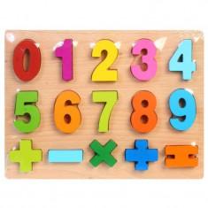 Set Educational pentru Copii Puzzle 3D cu Cifre si Semne pentru Operatii Matematice