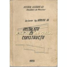 Instalatii In Constructii - Lozonschi Gheorghe