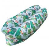 Saltea autogonflabila Lazy Bag - stil tropical, 70x240 cm