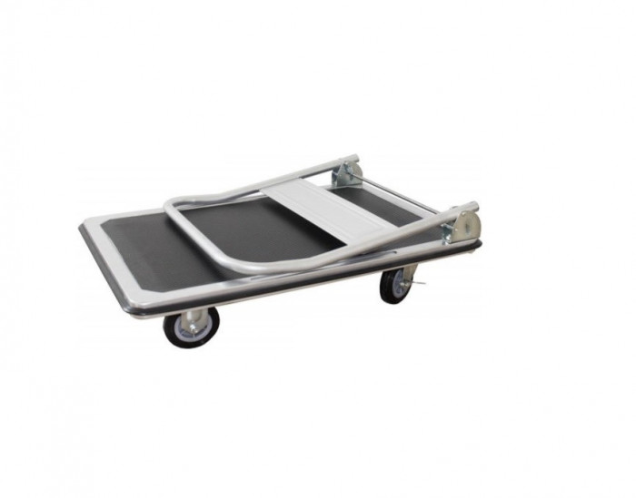 Platforma Carucior Gri Transport Marfa 150kg Rabatabil + LIVRARE GRATUITA