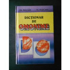 GH. BULGAR - DICTIONAR DE OMONIME