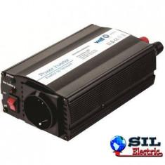 Invertor de tensiune 24V -> 220V, USB, 300W, Well