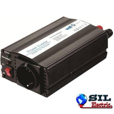 Invertor de tensiune cu usb, 24V -> 220V, 300W, Well