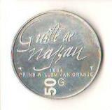 SV * Olanda  50 GULDEN 1984 * ARGINT * REVERS HOLOGRAMIC REGINA BEATRIX    AUNC+, Europa