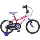 Bicicleta Copii 16 Inch Bimba, Bonanza, G1602B/2, Cadru Otel, Roti Ajutatoare, Varsta 4-7 Ani