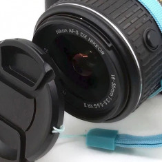 Capac obiectiv foto DSRL (fata) cu snur ANTI-PIERDERE