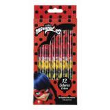 Set 12 creioane colorate LADYBUG MARINETTE