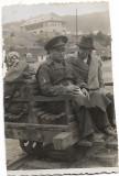 D129 Ofiter vanatori munte pe drezina 1940