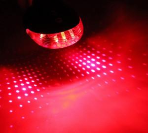 Stop 5 led bicicleta si 2 lasere traseu in puncte, culoare rosie, laser rosu