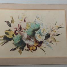 Flori acuarela veche