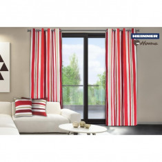Set de 2 draperii decorative din 100% bumbac model dungi foto
