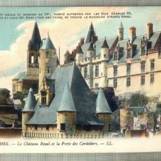 AD 01 C. P. VECHE- LOCHES -LE CHATEAU ROYAL -1917 -FRANTA -COMMISION MILITAIRE