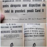 Biblioteca legilor uzuale adnotate (1932-1938, 15 broșuri coligate)