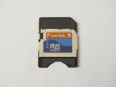 Adaptor Card memorie Mini SD la SD foto