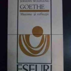 Maxime Si Reflectii - Johann Wolfgang Goethe ,545589