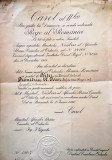 """BREVET PT. ORDINUL """"STEAUA ROMANIEI"""" IN GRAD DE OFITER"""
