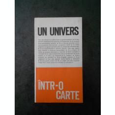 UN UNIVERS INTR-O CARTE volumul 1 (1970)