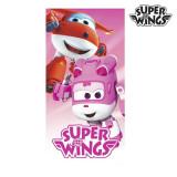 Prosop de Plajă Roz Super Wings
