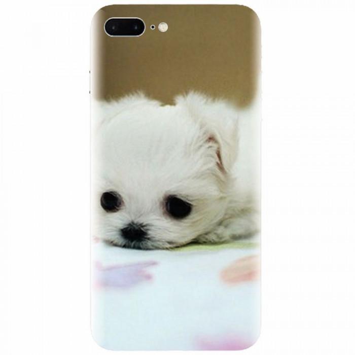 Husa silicon pentru Apple Iphone 8 Plus, Puppies 001
