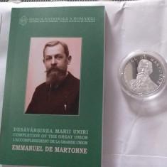 Moneda Proof argint - Desavarsirea marii Uniri Emmanuel de Martonne