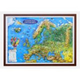 Europe map for children, 3D projection, 604x470mm (3DGHECP60-EN)