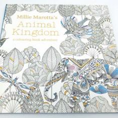 Carte de colorat antistres pentru adulti, Animal Kingdom, by Borealy