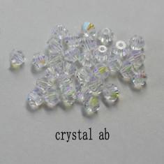 Accesorii Textile, Pentart, Strasuri Transparent 4mm Bicon Austria Crystal 100pc