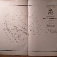JUDETUL DOROHOIU  // HARTA CROMOLITOGRAFIATA, 1904