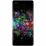 Husa silicon pentru Huawei P30, Rainbow Colored Soap Bubbles