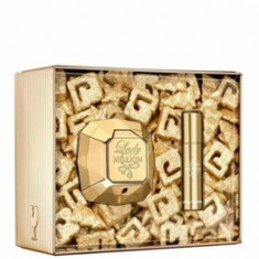 Set cadou Paco Rabanne Lady Million (Apa de parfum 80 ml + Apa de parfum 10 ml), pentru femei