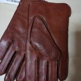 Mănuși din piele naturala pt bărbați., Maro, Made in Italia