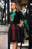 Bluza tip ie cu maneca brodata si motive traditionale Venezia