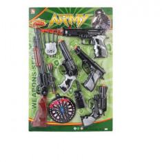Set arme de jucarie cu pusca si ventuze 38x58x4 cm