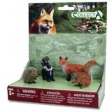 Set 4 figurine Animale din padure Collecta, plastic, 16 x 10 x 18 cm, 3 ani+
