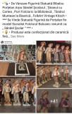 """Statuetă Figurină Bibelou Porțelan Arpo """" Săndel Şcolar Țăran Bibliotecă Etno """""""