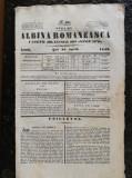 Revista Albina Romaneasca,joi 16 apr.1842, 4 pagini,scriere chirilica,lb.romana