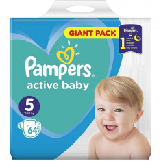 Scutece Pampers Active Baby 5 Giant Pack, 64 bucati