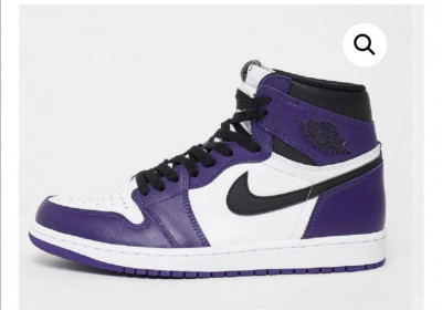 Nike Air Jordan 1 Purple White foto