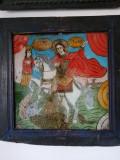 SF.GHEORGHE OMORAND BALAURUL, ICOANA PE GLAJA, TARA BARSEI. JUM.SEC. XIX