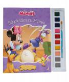 Minnie. Să pictăm cu Minnie. Carte de colorat cu pensulă și acuarele, Disney