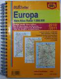 EUROPA MARELE ATLAS RUTIER , SCARA 1 / 800.000 , editie noua , 2010 / 2011